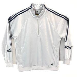 adidas original half zip jacket men medium